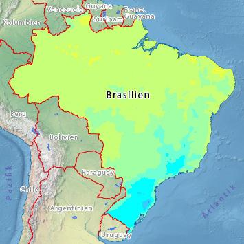 Wetter Brasilien: Temperaturen im April