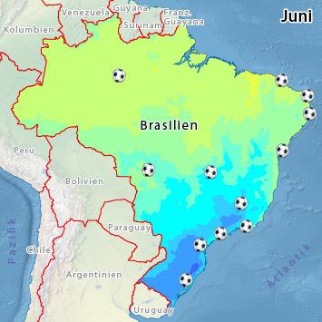 wetter wm brasilien
